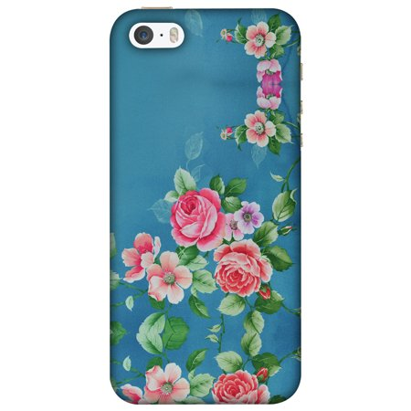 best service 3f224 980d9 iPhone 5S Case, iPhone 5 Case - Rose Print Provencal,Hard Plastic Back  Cover, Slim Profile Cute Printed Designer Snap on Case with Screen Cleaning  Kit