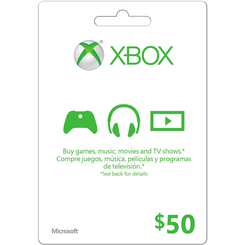 Interactive Commicat Xbox Microsoft Gift Card $50