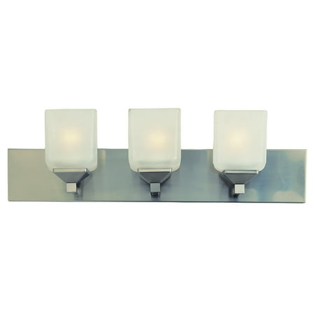 Bel Air Lighting CB-2803-PW 3 Light Pewter Cube Bath -