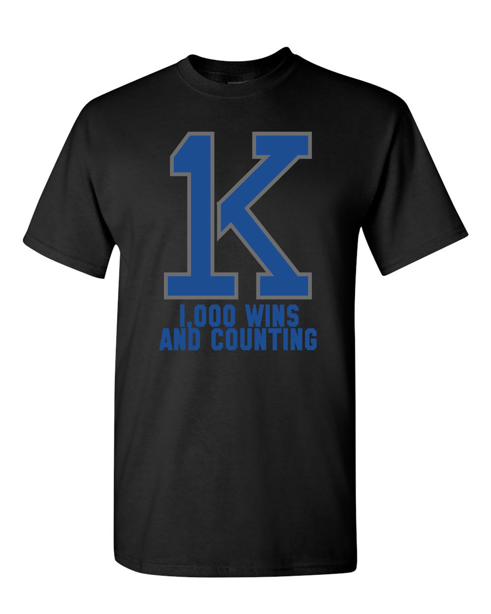 1K Coach K Bold Wins And Counting Basketball DT Adult T-Shirt Tee