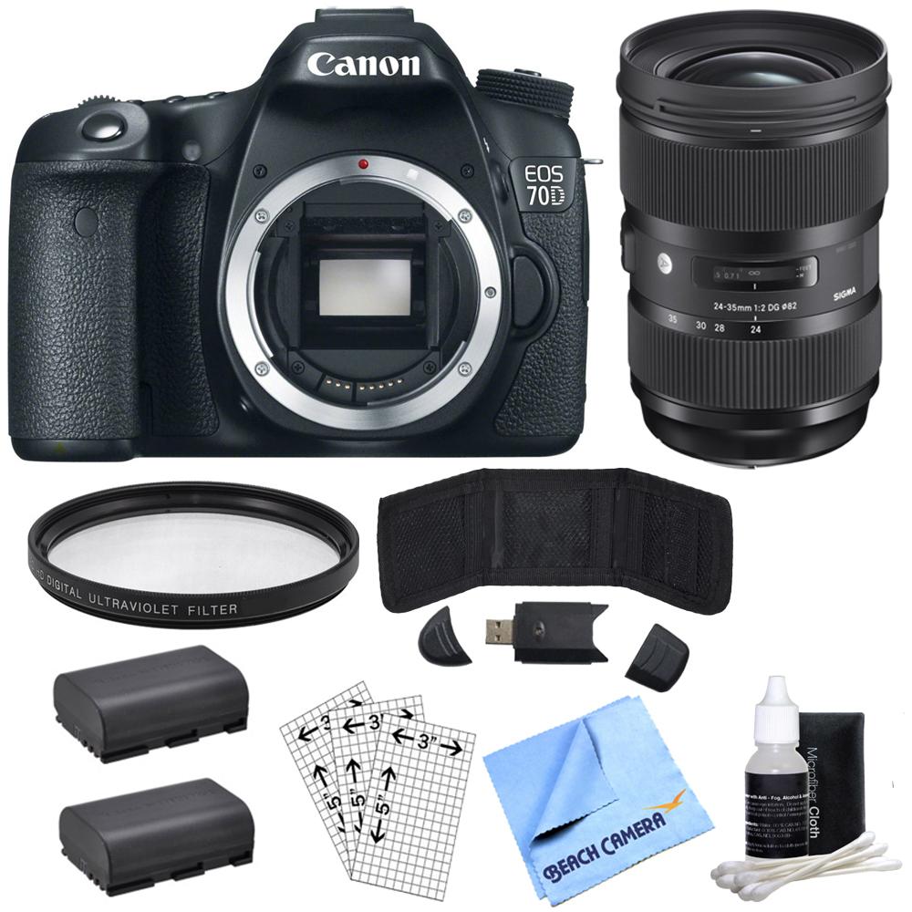 Canon EOS 70D 20.2 MP CMOS (APS-C) Digital SLR Camera wit...