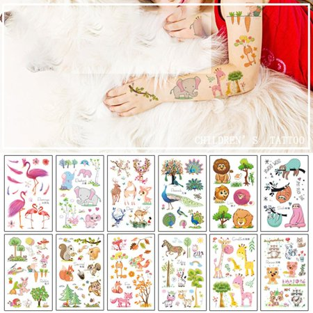 New original cartoon animal tattoo stickers fun children's tattoo stickers - image 3 of 5