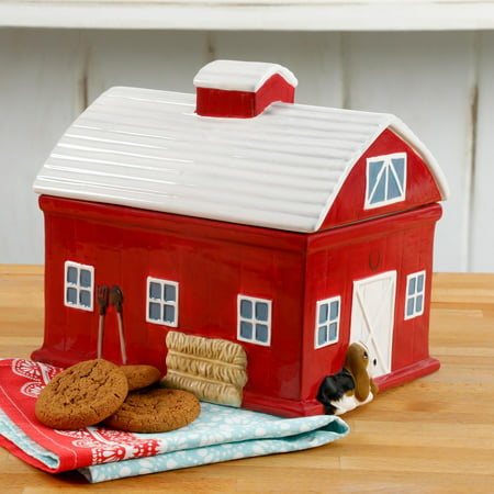 Christmas Tree Cookie Jar (The Pioneer Woman Barn 7.9 Inch Cookie)