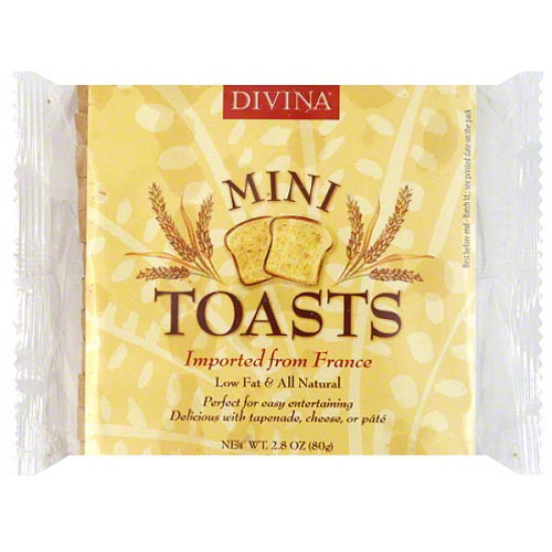Divina Mini Toasts, 2.8 oz, (Pack of 24)