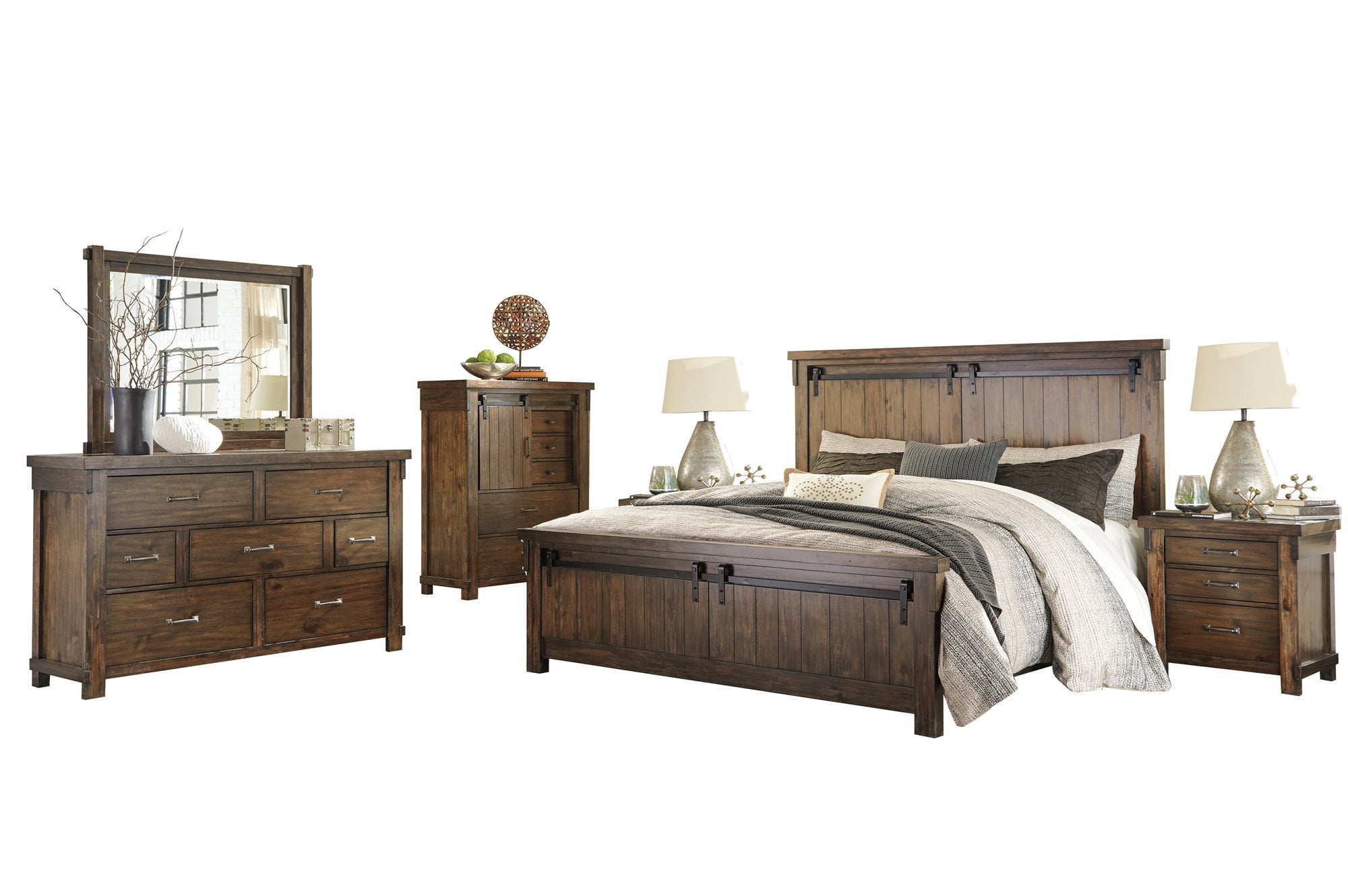 Ashley Furniture Lakeleigh 6 Pc Bedroom Set Cal King Panel Bed