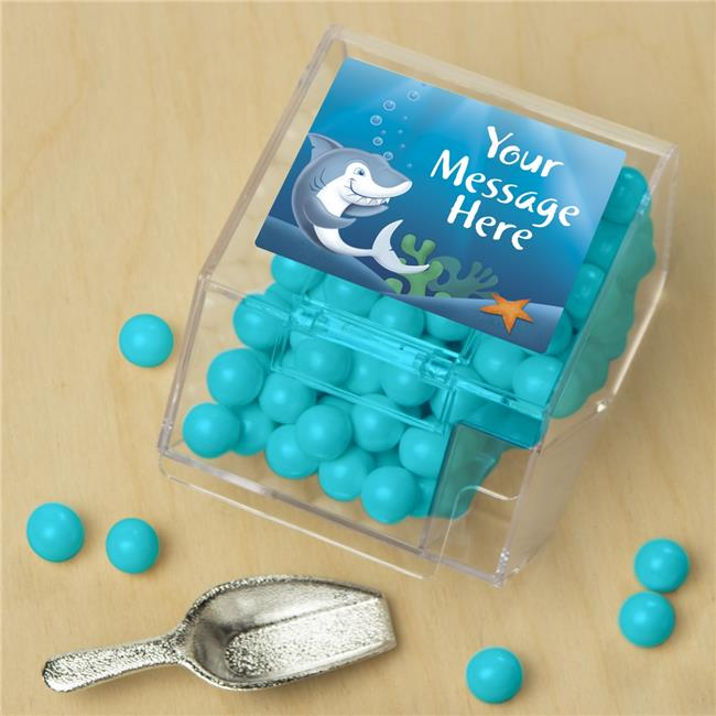 Costume Supercenter BB005742CBS Sharks Personalized Candy Bin with Candy Scoop