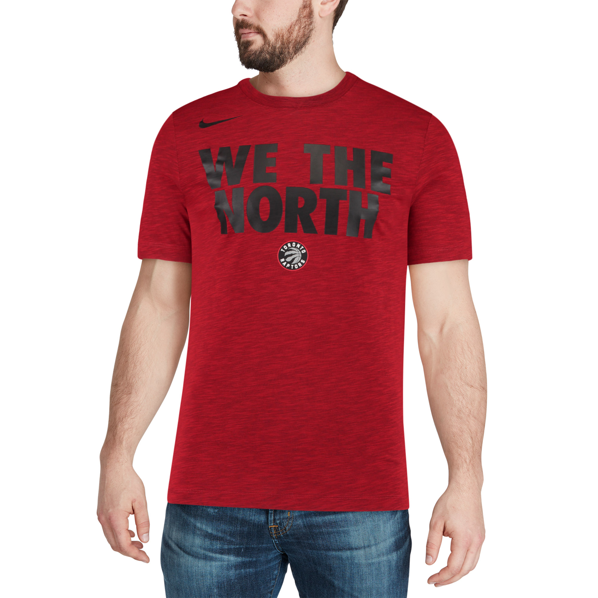 133658afde1 Toronto Raptors Nike Essential Team Attitude Performance T-Shirt - Heathered  Red - Walmart.com