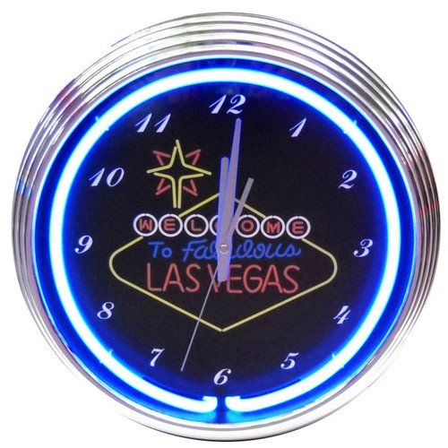 Neonetics 15'' Las Vegas Sign Wall Clock