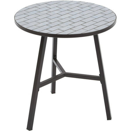 Better Homes and Gardens Camrose Farmhouse Mosaic Tile Top Table ()