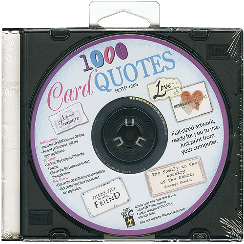 Hot Off The Press Card Quotes CD, 1000 Quotes Multi-Colored