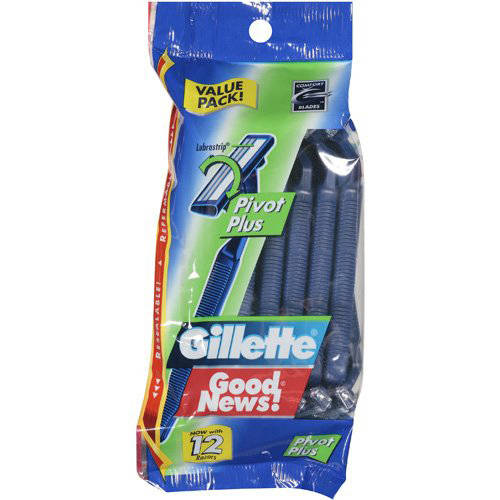 Gillette Good News, Disposable, Pivot Plus, 12ct