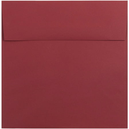jam paper 8 5 x 8 5 square invitation envelope dark red 250 pack