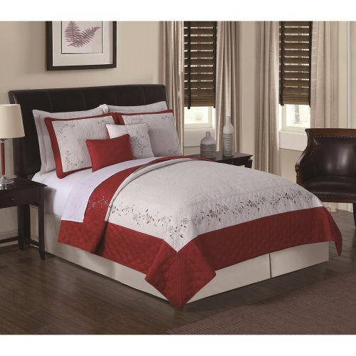 Constance Loganberry Embroidered Quilt Set by Chelsea Park