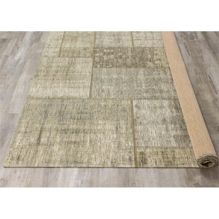 Cathedral Cream Grey Distressed Patchwork Rug Canada