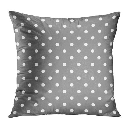 ECCOT Brown Abstract Pattern White Polka Dots on Grey Baby Dark Halloween Homemade Light Pillow Case Pillow Cover 18x18 inch - Homemade Halloween