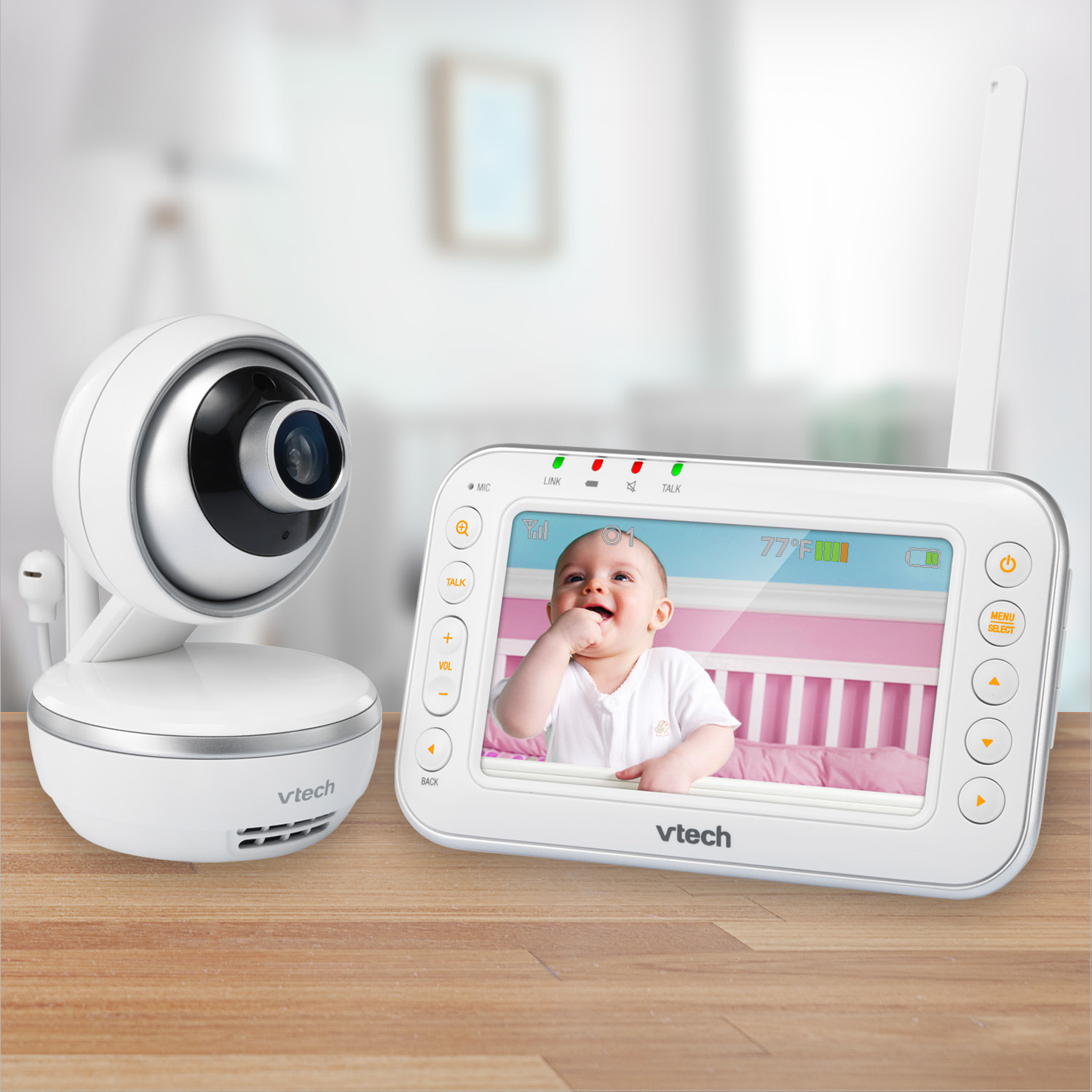 """VTech VM4261, 4.3"""" Digital Video Baby Monitor with Pan & Tilt Camera, Wide-Angle Lens and Standard Lens,... by VTech"""