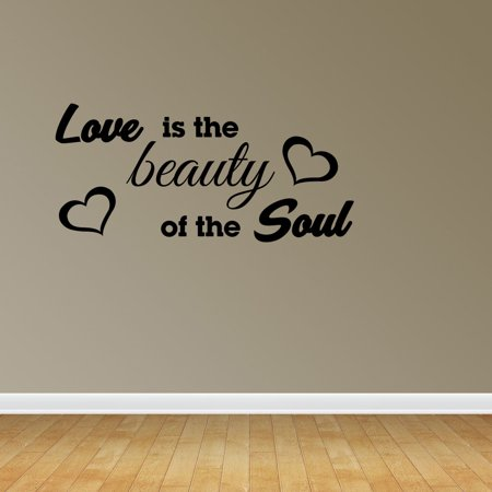 Love Beauty Of Soul Quote Vinyl Wall Decals Love Decal Romantic Quote JP167](Halloween Romantic Quotes)