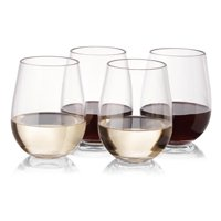 Plastic Outdoor Stemless Wine Glasses Set of 20 Unbreakable Reusable High Quality Tritan Plastic from NOTMOG by Wine Glasses
