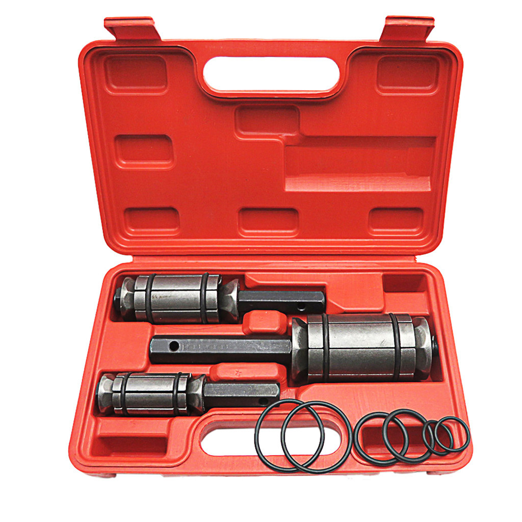 Tail Pipe Muffler Exhaust Expander Kit /1-1//8 to 3-1//2/with Blow Mold Storage Case 3 PC Exhaust Pipe Expander Tool kit,Exhaust Muffler Spreader Tool