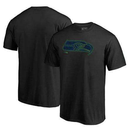 Seattle Seahawks NFL Pro Line by Fanatics Branded Training Camp Hookup T-Shirt - Black Nfl Seattle Seahawks Cotton