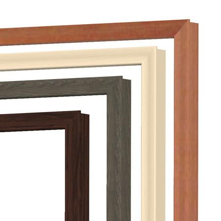 Ghent IMM23WCH Impression Modern Markerboard Premium Cherry Wood Frame Porcelain Whiteboard Included 4 Marker & - Wood Framed Porcelain Markerboard