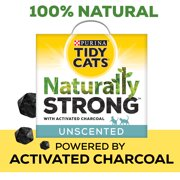 Purina Tidy Cats Unscented, Clumping, Natural Cat Litter, Naturally Strong Clay Multi Cat Litter (Multiple Sizes)