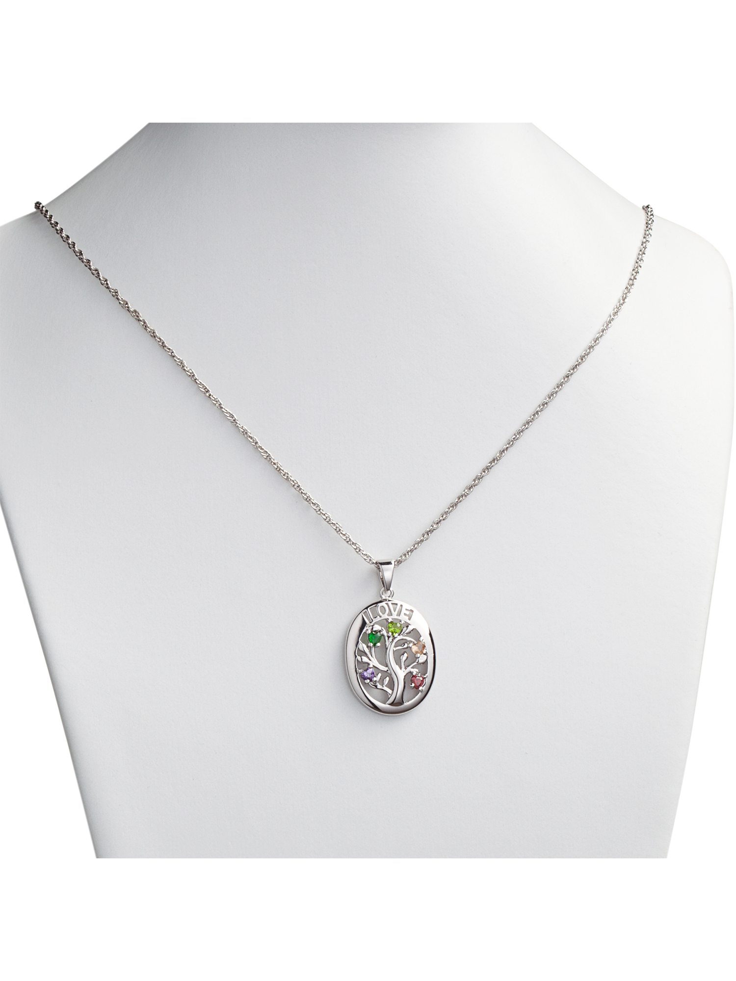 family heart grandkid silver wid product birthstone sterling necklace necklaces
