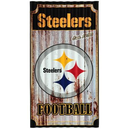 Pittsburgh Steelers Corrugated Metal Wall - Steelers Decor