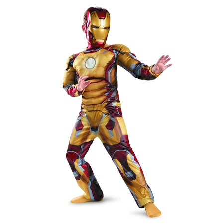 Marvel Iron Man 3 Mark 42 Boys Halloween Muscle Costume Small 4-6](Iron Man Costum)