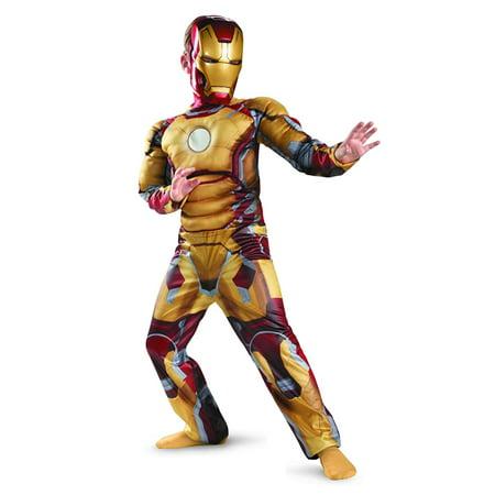 Marvel Iron Man 3 Mark 42 Boys Halloween Muscle Costume Small - Iron Man Mark 42 Costume