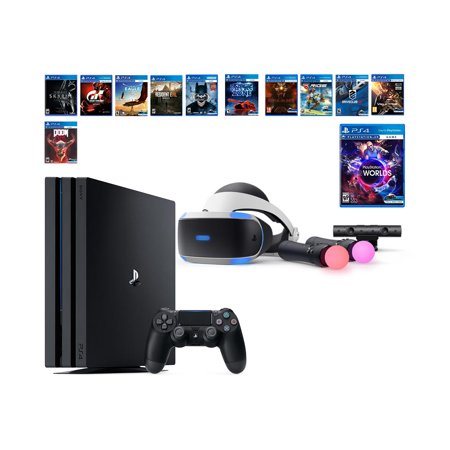 PlayStation VR Collection Starter Bundle (14 Items): PS4 Pro 1TB
