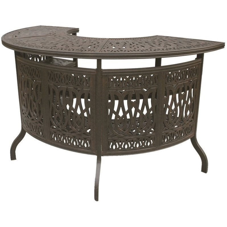"Darlee Elisabeth 75"" Patio Bar in Antique Bronze"