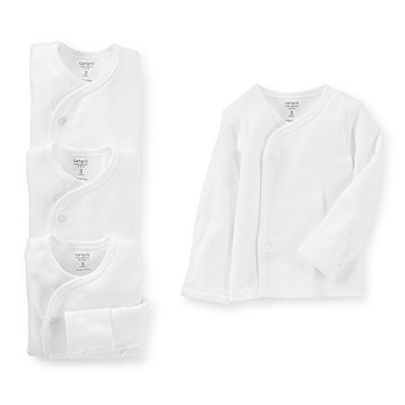 Unisex Baby Little Layette Side Snap Shirts Built In Flaps (3 Months) Side Snap Layette Set