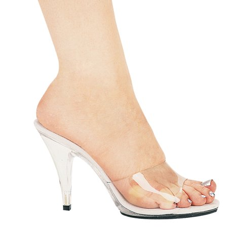 405-Vanity 4'' Heel Clear Mule Shoes (4 Inch Heel Mule)