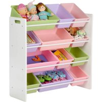 Honey Can Do Kids Toy Organizer with 12 Storage Bins, Multiple Colors