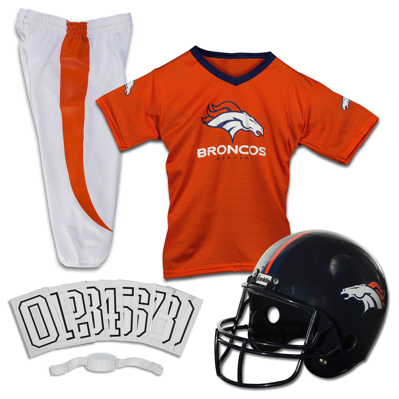 Franklin Sports Nfl Denver Broncos Youth Licensed Deluxe Uniform Set Large Walmart Com Walmart Com