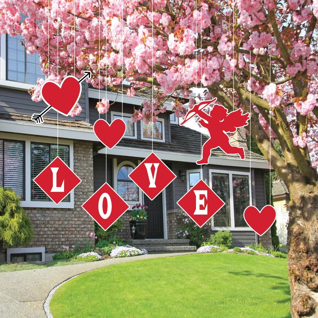 Valentine S Day Yard Decoration Hanging Cupid Hearts And Love