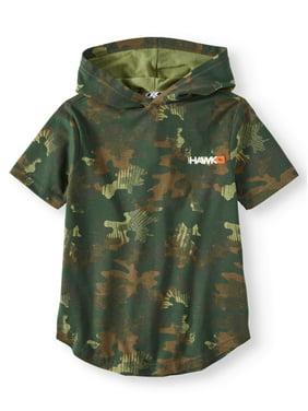 cfe22fa95 Product Image Big Boys  Short Sleeve Camo Print Hoodie Tee Shirt