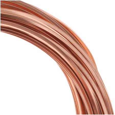 - BeadSmith Non-Tarnish Copper Square Craft Bead Wire 18Ga (21Ft)