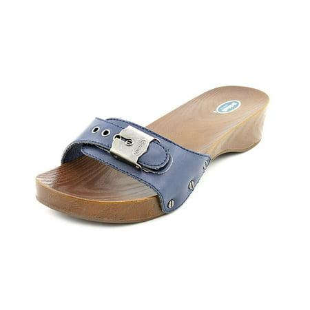 f79641a2b9fc88 Dr. Scholl s Shoes - Dr. Scholl s Classic Women Open Toe Leather Blue  Slides Sandal - Walmart.com