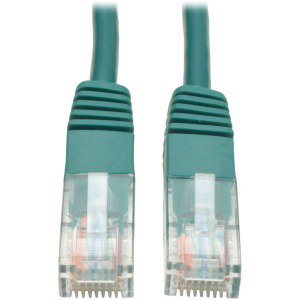 Tripp Lite 3ft Cat5e 350MHz Molded Patch Cable (RJ45 M/M) - (Rj 45 Molded Boot Green)