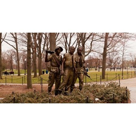 The Three Soldiers bronze statues at The Mall Washington DC USA Poster Print by Panoramic Images (36 x