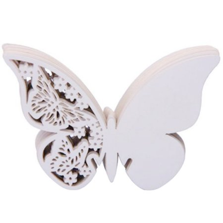 Party Names (50pcs Laser Cut Butterfly Wine Glass Card Table Name Place Escort Cup Card Party Wedding Birthday)