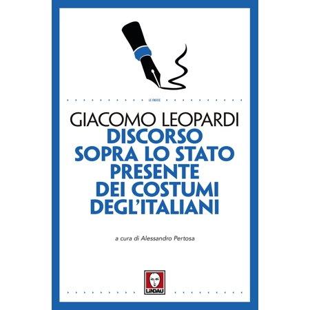 Discorso sopra lo stato presente dei costumi degl'Italiani - eBook](Costumi Milano Halloween)