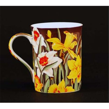 Chinese Aubusson China (Euland China FL0-005D Set Of Two 12-Ounce Mugs - Daffodils)