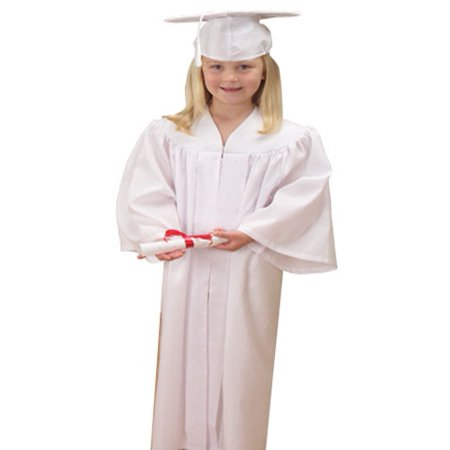 Childs White Graduation Cap And Gown](Children's Cap And Gown)