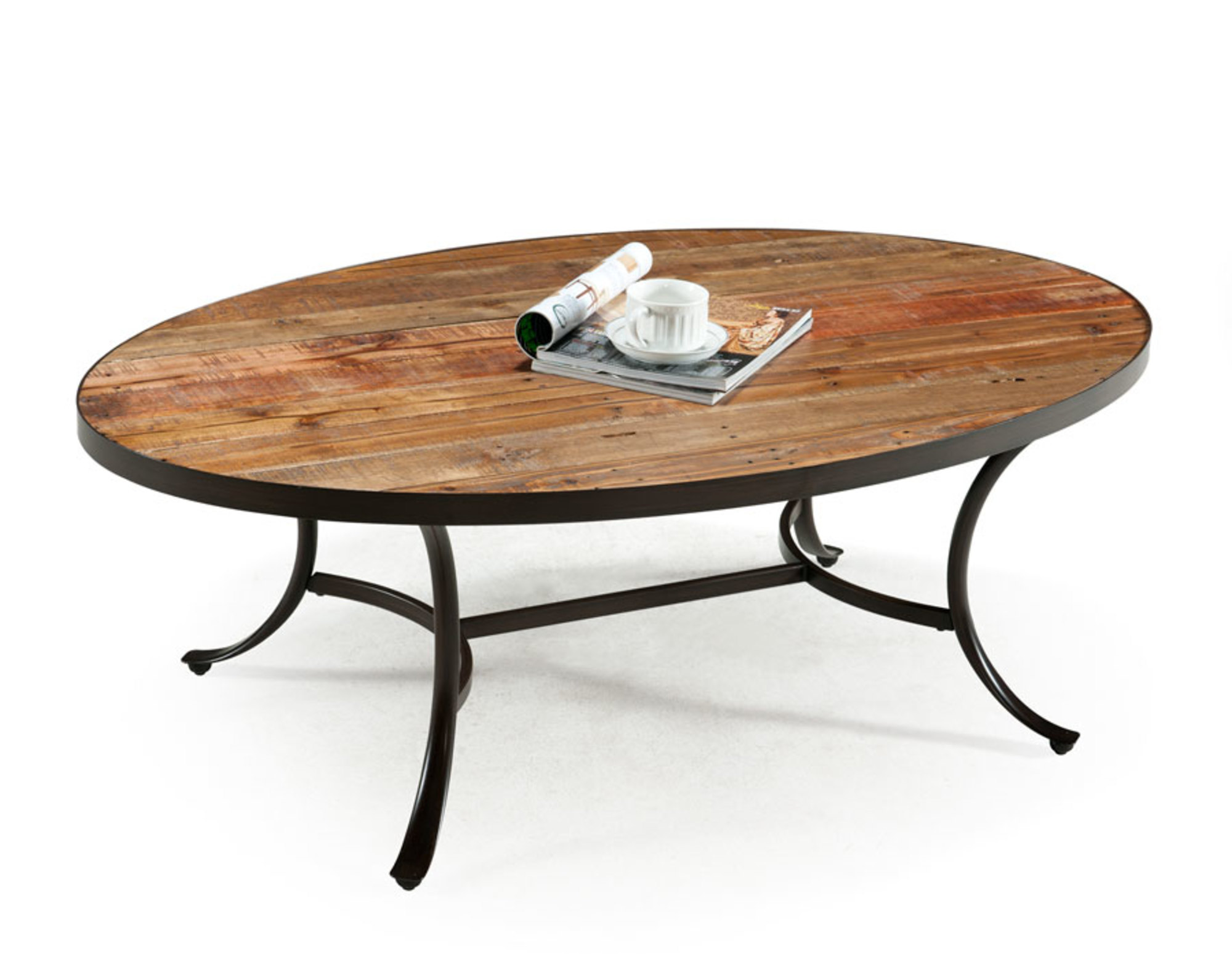Emerald Home Berkeley Cocktail Table Oval Natural T140-0 by Emerald Home Furnishings, LLC