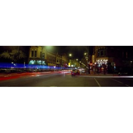 Traffic on the road Lincoln Park Chicago Illinois USA Canvas Art - Panoramic Images (18 x 6) - Halloween Parties In Lincoln Park Chicago