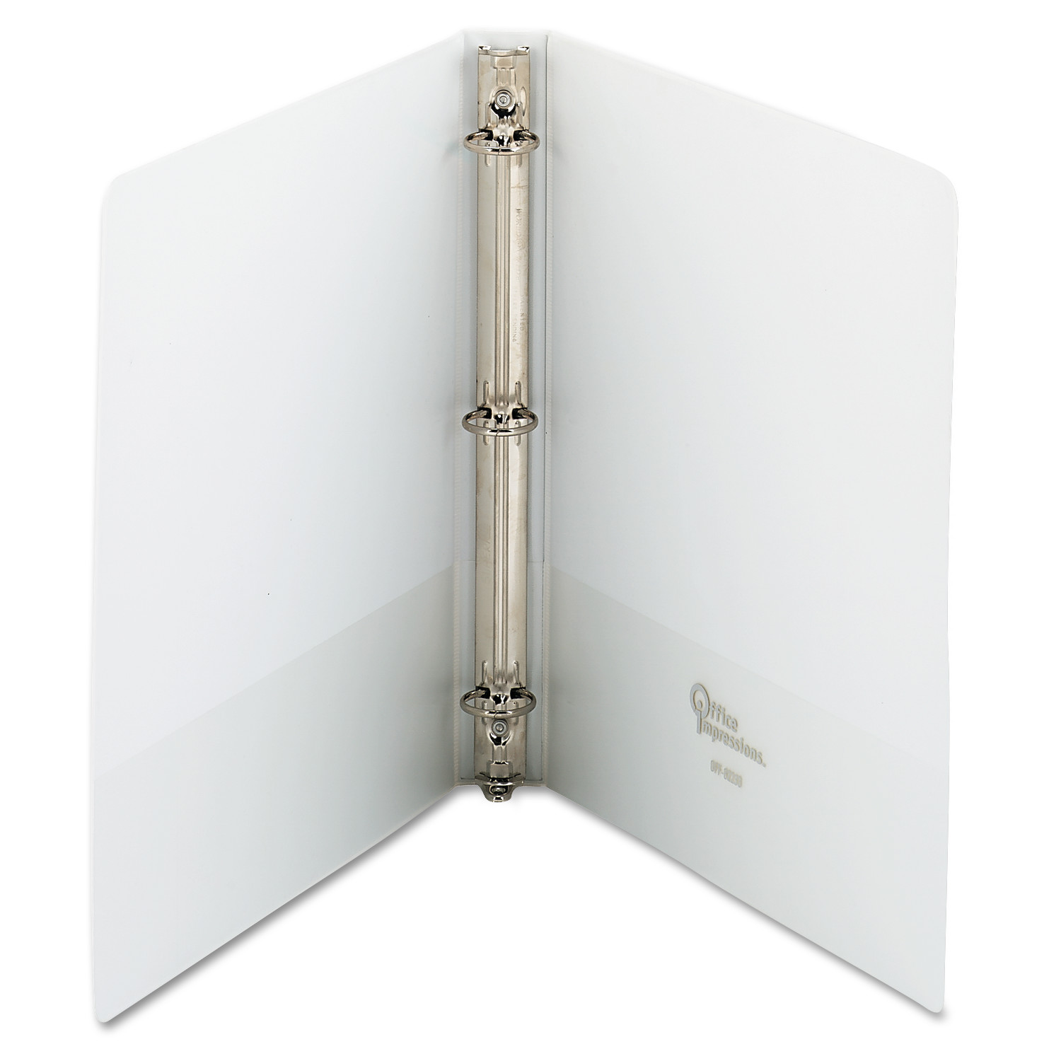 office impressions round ring vinyl view binders white 1 12 pack