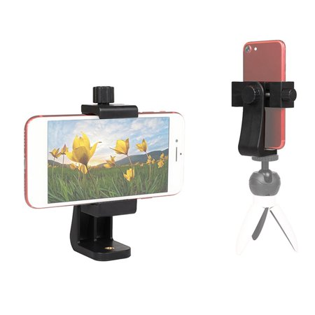 Phone Tripod Mount Clip Support Stand Vertical Horizontal Video Shooting - image 6 of 8